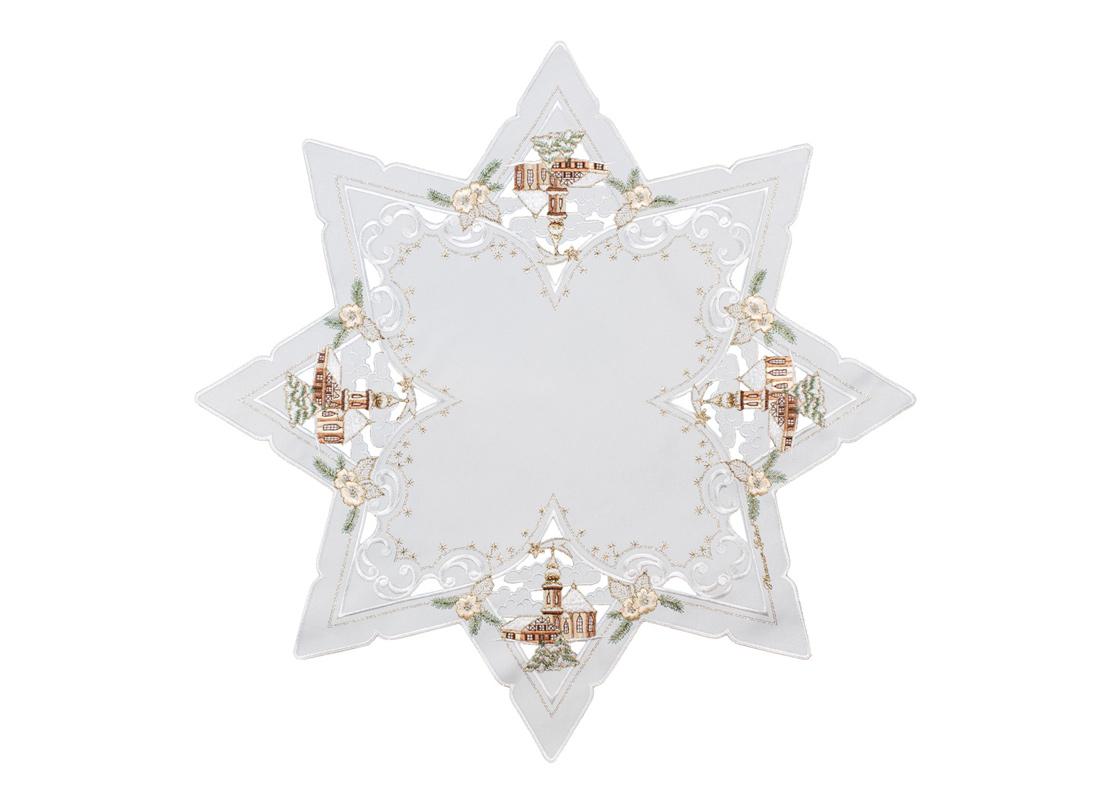 Star shaped table cloth - 60 x 60 cm