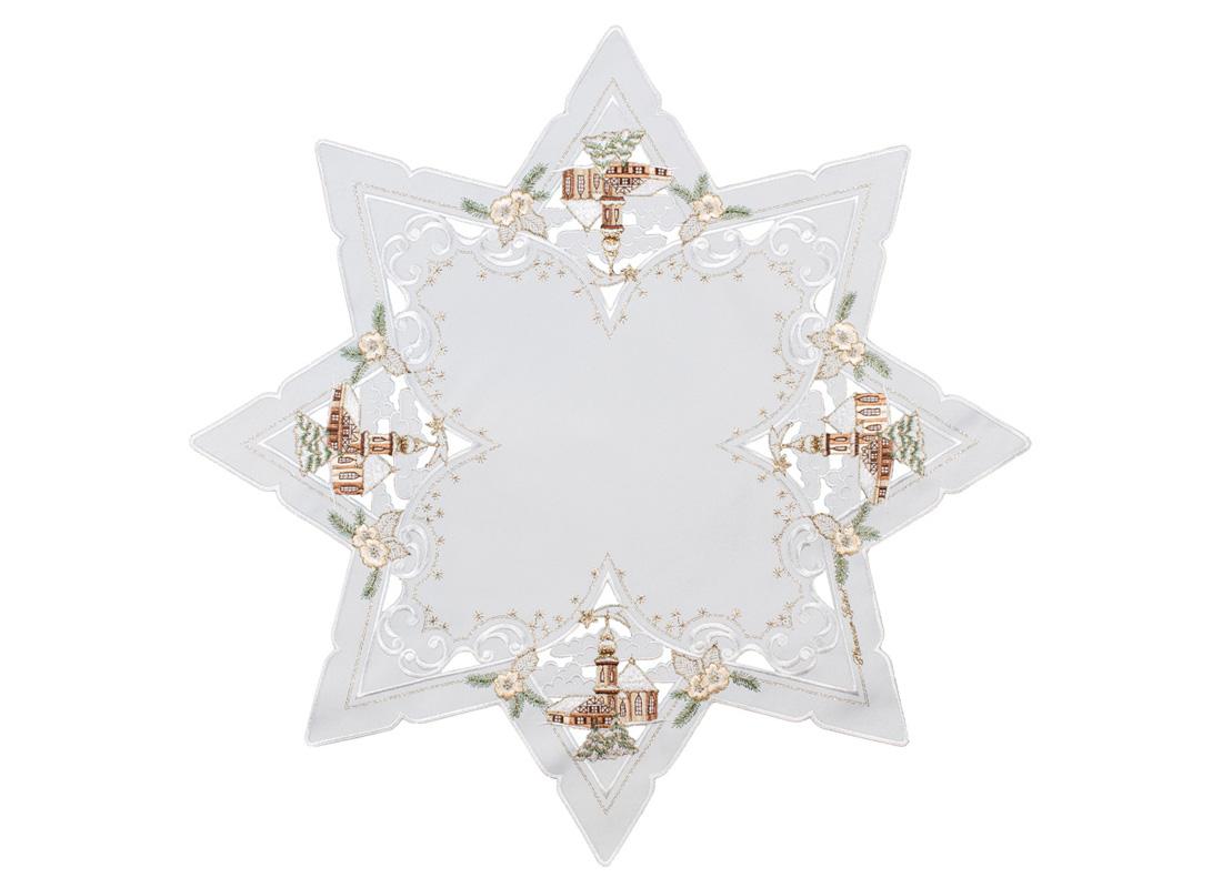 Star shaped table cloth - 85 x 85 cm