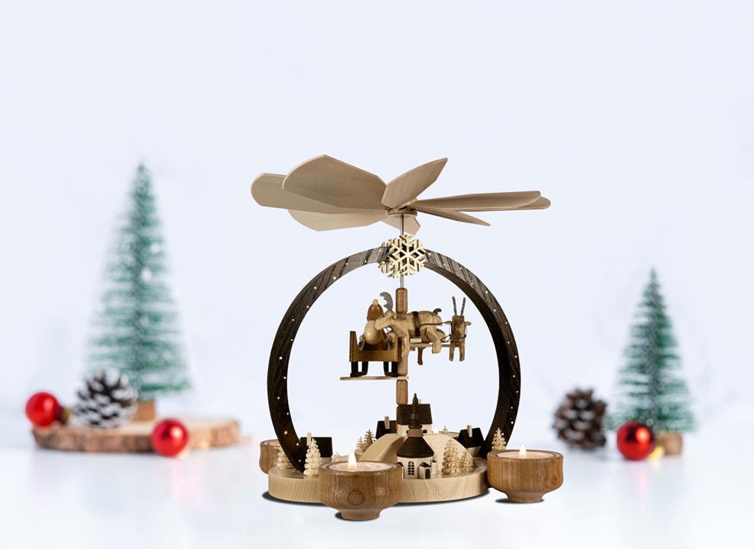 "Christmas Pyramid ""Christmas Magic"" natural colored"