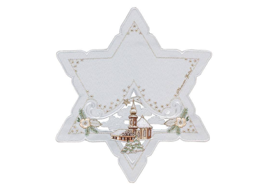 Star shaped table cloth - 35 x 35 cm